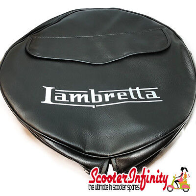"Spare Wheel Cover (3.50, 10"" - Black with Pouch) Lambretta GP LI SX TV"