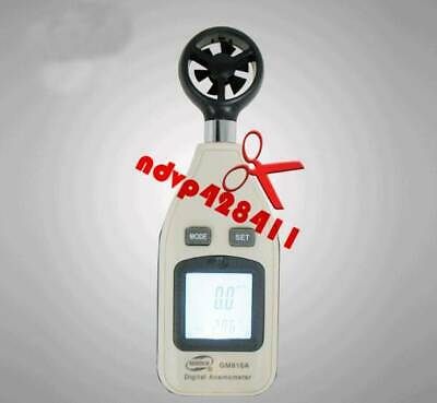 GM816A Handheld Electronic Digital Air Wind Speed Meter Anemometer Thermometer