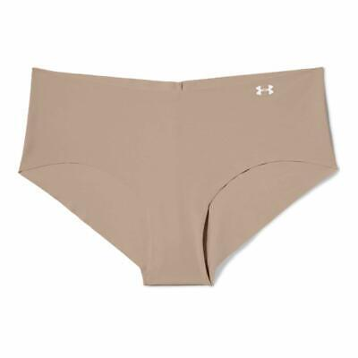 Under Armour Women's XL Pure Stretch Hipster Panties X-Large Nude 1275736-295