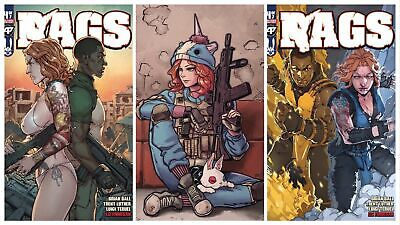 Rags #4 Reg Cover, Cosplay Cover & Crossover Virgin Variant Set Nm Presale