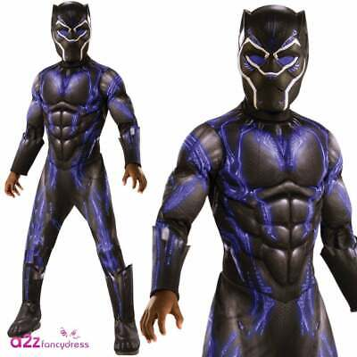 Boys Black Panther Deluxe Purple Battle Suit 2019 AVENGERS ENDGAME Fancy Dress