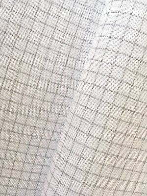 Zweigart White Easy Count 25 count Lugana evenweave 50 x 68 cm with grid lines