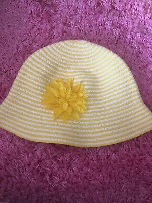 Next Summer Hat Age 3-6 Years Worn Once Yellow And White