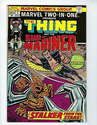 MARVEL TWO-IN-ONE # 2 (THING & SUB-MARINER, Cents Issue, MAR 1974), VF