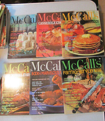 6 Issues of McCalls Cookbook Collection PB 1965