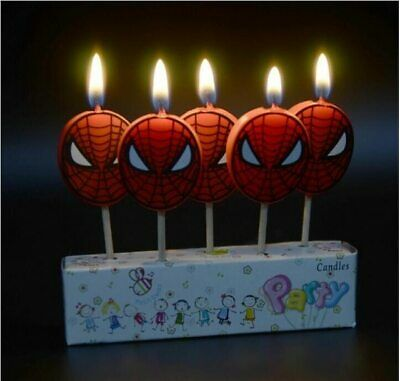 AVENGERS SPIDERMAN IRONMAN BATMAN Birthday Cake Candle Candles Topper Party