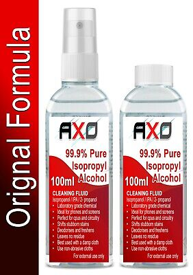 100ml Isopropyl Alcohol (99.9% Isopropanol) IPA Phone Screen Cleaner Cap / Spray