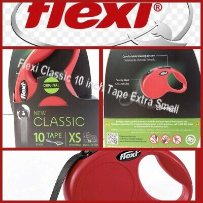 🐶Flexi New Classic {Extra Small}Dog Leash  26 lbs [Red] 10 Foot {Brand New}🐶