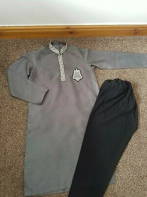 Silver/grey/black Mens Sharwani/Sherwani Kurta FORMAL wedding size small