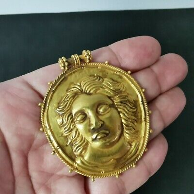 12.97 gm Ancient Alexander the Great Indo-Greek Handcraft Gold 18K Pendant #A100