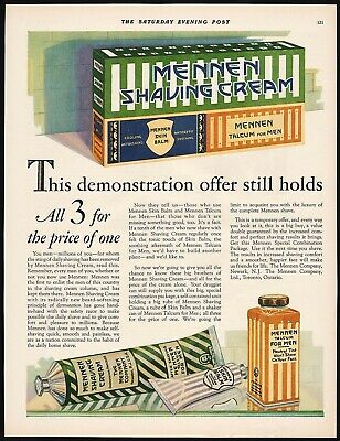 1948 Mennen Lather Shave Shaving Cream Sin Bracer Pinup Blonde Phone Original Ad Easy To Lubricate Advertising