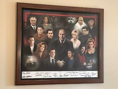 THE SOPRANOS TV CAST ART SIGNED IN INK CIRCA 2001!! Great collection!!