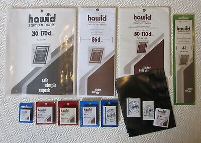 ++ Accumulation Of Black Hawid Stamp Mounts - Blocks Strips & Cut To Size ++