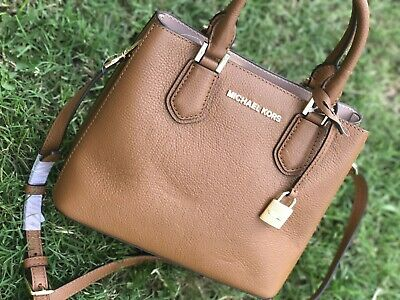 f3653c8ccb65ea NWT Michael Kors Adele Mercer Large Satchel Crossbody Bag luggage/Ballet