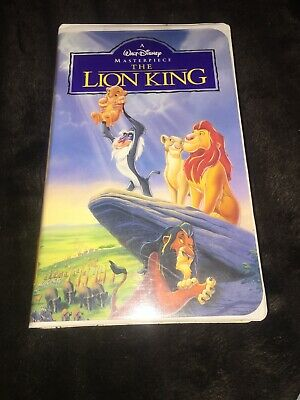 The Lion King VHS 1995 Walt Disney Masterpiece Video tape