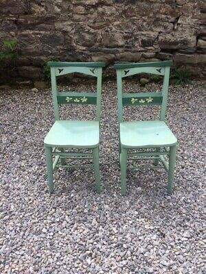 A Pair of Vintage Chapel / Church Chairs