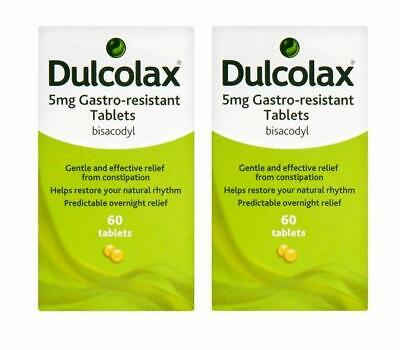 Dulcolax 5mg Gastro-Resistant 60 tablets Bisacodyl(Pack of 2 total 120 tablets)*