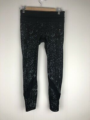 1506698ff Lululemon Star Crushed Luxtreme Leggings 6 Mesh Pants Inspire Black Gray