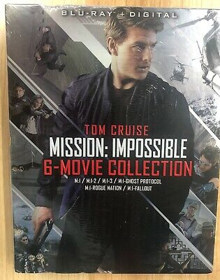 Mission Impossible: 6-Movie Collection w/Slipcover (Blu-ray + Digital, 2018) NEW