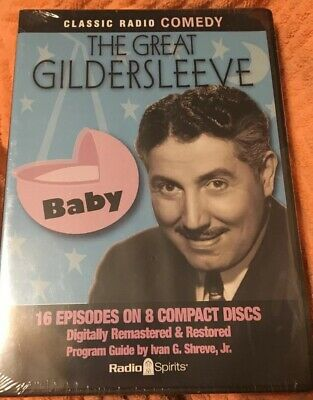 Radio Spirits THE GREAT GILDERSLEEVE, BABY 16 Episodes 8 Compact CD Discs Sealed