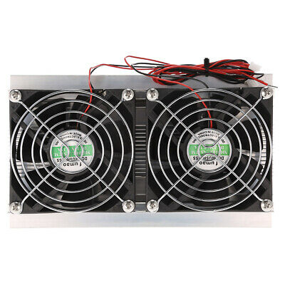 Thermoelectric Peltier Refrigeration Cooling System Kit Double Cooler Fan X7V1