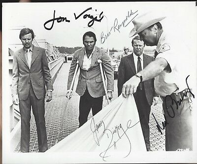 Deliverance-Cast 4 Signed Photo-James Dickey Burt Reynolds Jon Voight Ned Beatty