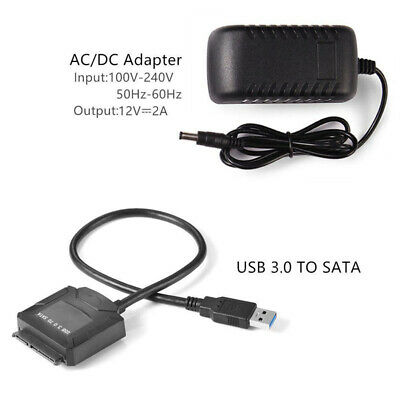 Durable USB 3.0 to SATA Converter Hard Drive HDD SDD Adapter for Computer Laptop