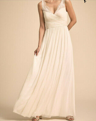 SM $280 New SOLD OUT Anthropologie BHLDN Hitherto SHELBY Ivory Pearl Sz 4 XS