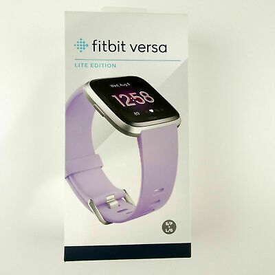 Fitbit Versa Lite Edition SmartWatch with Small & Large Band, Lilac