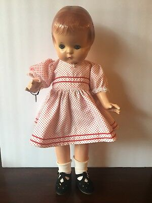 """Vtg. Effanbee Patsy Ann Composition Doll Pat 1283558 Molded Hair 19"""" Jointed"""