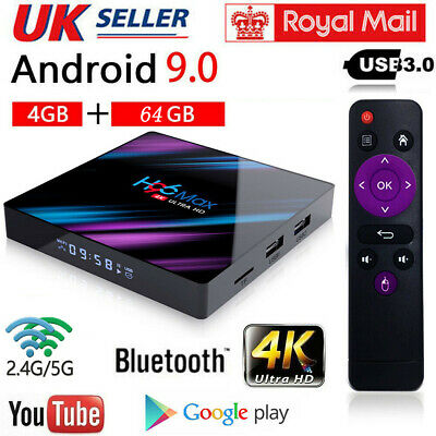 H96 Pro MAX 4GB+64GB Android 9.0 TV Box USB3.0 HD Smart Network Media Player UK