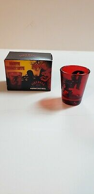 Fireball Cinnamon Whisky - Shot Glass - Red Glass - R - NEW