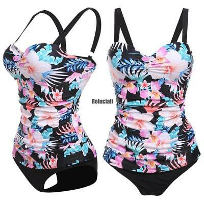 14aedcf82008a Women's Underwire Push Up Floral Print Tankini Set Bathing Suit Swimwear  RCAI