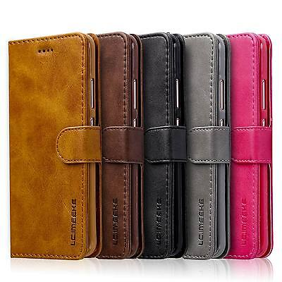 For Huawei P Smart 2019 Retro Leather Wallet Flip Case Stand Phone Cover Luxury