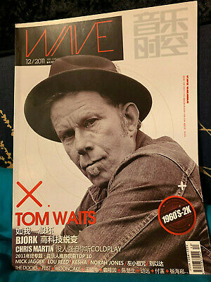 Wave Extremely RARE Asian Magazine Tom Waits Cover Coldplay 12/2011 Brand New