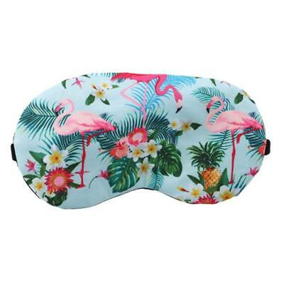 Flamingo Sleeping Eye Mask Travel Shade Cover  Relax Sleeping Blindfold SO