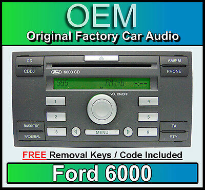 Ford 6000 CD player, Ford C-max car stereo radio with FREE removal keys CDDJ
