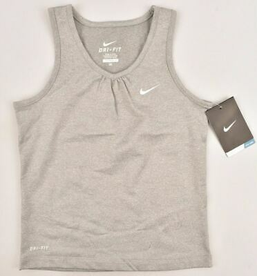 NIKE DRI-FIT Girls' Kids' Performance Tank Top, Grey, 6-7 years