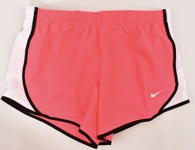 NIKE Dri-Fit Girl's Running Performance Shorts, Neo Pink/White, 10-12 Years