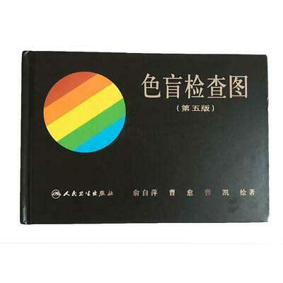 Hot Newest 38 Plate Ishihara Test Book Color Blindness Eye Testings Top New A3A4