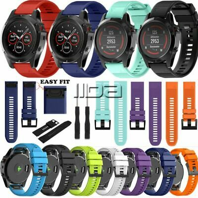 For Garmin Fenix 5 5X 5S Watch band replacement sport straps 22mm 26mm silicone