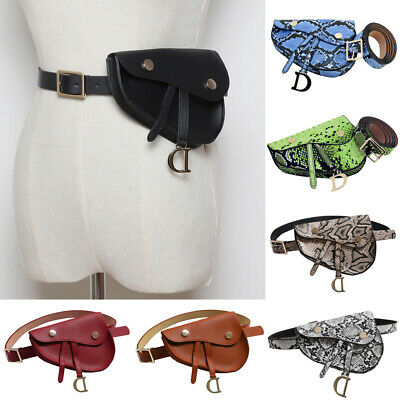 PU Leather Waist Fanny Pack Belt Bag Pouch Travel Hip Bum Bag Women Mini Purse
