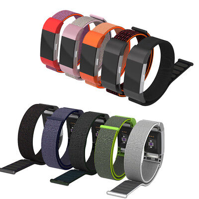 Woven Nylon Loop Bracelet Watch Band Strap For Fitbit Charge 2 / Charge 2 HR