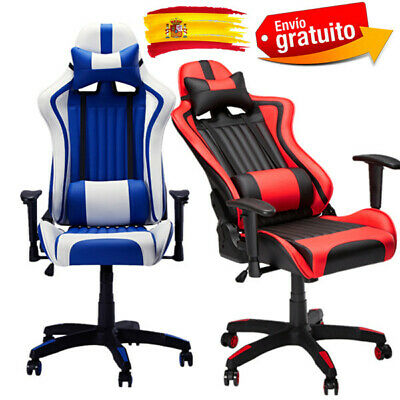 Racing Silla Gamer, Silla Gaming de Ergonómica,Altura e Inclinación Ajustables