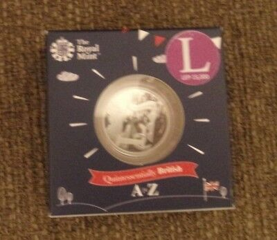 2018 10p TEN PENCE COIN LETTER - L LOCH NESS MONSTER  SILVER PROOF COIN POST NOW