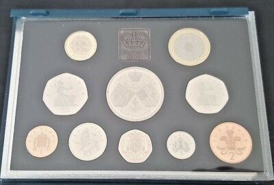 Royal Mint 1997 UK Proof Coin Collection with COA - 10 coins
