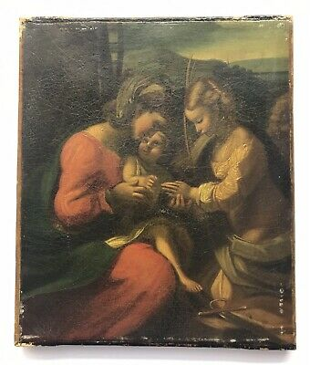 19th/20th Century antique reproduction copy of religious old master painting