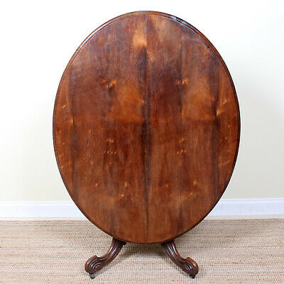 Antique Rosewood Tripod Table Tilt Top Dining Console Breakfast Table Victorian