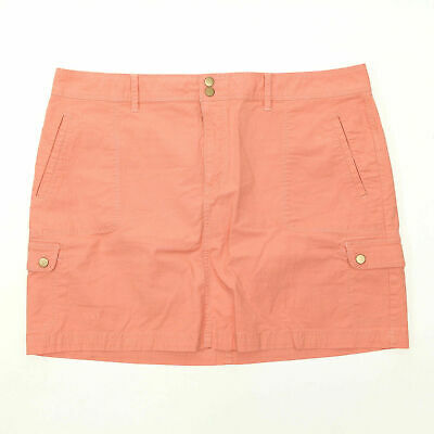 6208ddb6817c1 LL Bean Ripstop Skirt Petite Sz 18P Favorite Fit Cotton Stretch Straight  Coral
