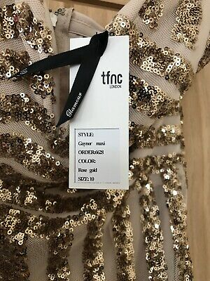 82b797426b91 TFNC Petite Two Tone Sequin Mini Dress With Plunge Back uk 14 new with  tags.